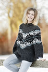 fh-2036 poncho sweater lille